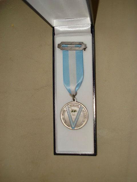 Medalla del Centro  entregada en la ocasión