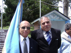 Presidente del centro con veterano de Corrientes